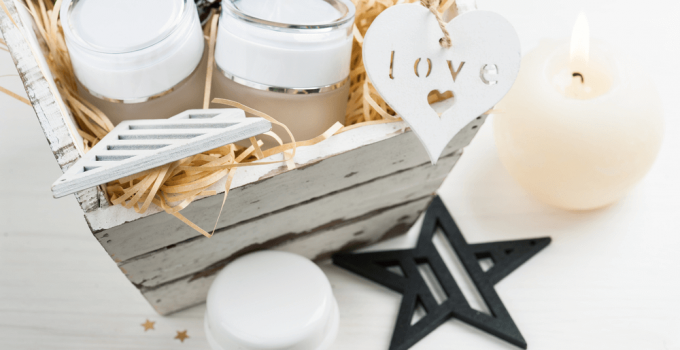 Valentine Candle Gift Basket
