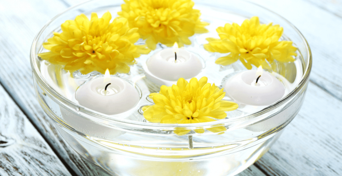floating candle bowls